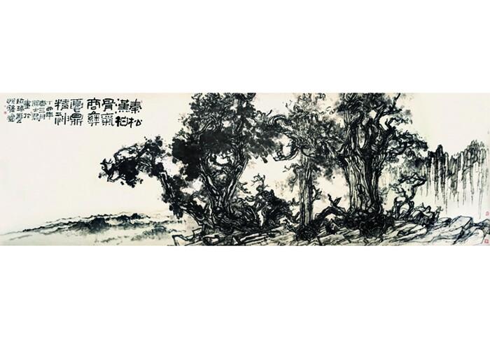 古代唐,宋大家多画古柏,明代画家文徵明,唐寅善画柏树,并多加